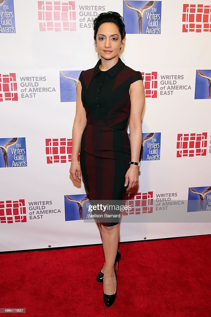 Actress <a gi-track='captionPersonalityLinkClicked' href=/galleries/search?phrase=Archie+Panjabi&family=editorial&specificpeople=811427 ng-click='$event.stopPropagation()'>Archie Panjabi</a> attends The 66th Annual Writers Guild Awards East Coast Ceremony at The Edison Ballroom on February 1, 2014 in New York City.