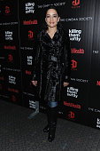 Actress Archie Panjabi attends The Cinema Society with Men's Health and DeLeon hosted screening of The Weinstein Company's 'Killing Them Softly' on...