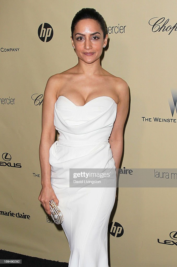 Actress Archie Panjabi attends The Weinstein Company's 2013 Golden Globe Awards After Party at The Beverly Hilton hotel on January 13, 2013 in Beverly Hills, California.