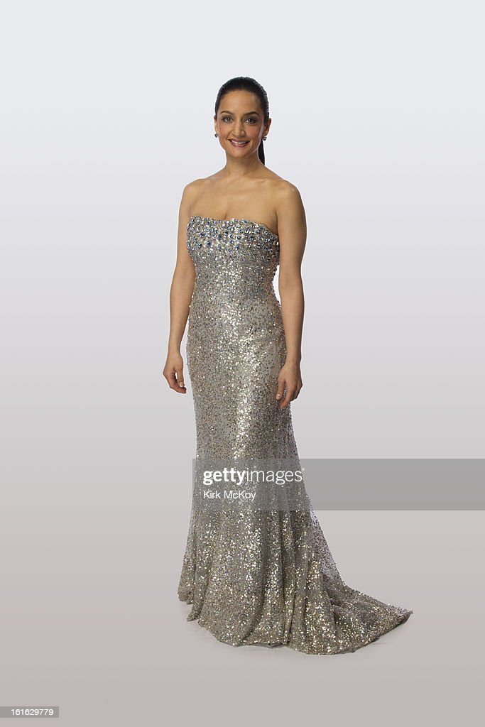 Actress Archie Panjabi is photographed at the NAACP Image Awards for Los Angeles Times on February 1, 2013 in Los Angeles, California. PUBLISHED IMAGE.