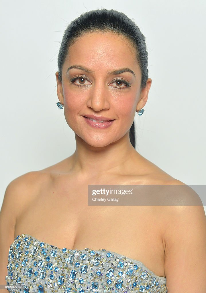 Actress Archie Panjabi poses for a portrait during the 44th NAACP Image Awards at The Shrine Auditorium on February 1, 2013 in Los Angeles, California.