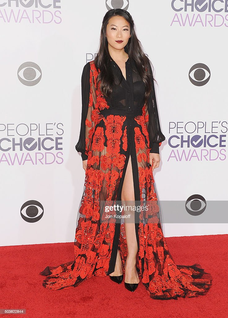 Actress Arden Cho arrives at People's Choice Awards 2016 at Microsoft Theater on January 6, 2016 in Los Angeles, California.