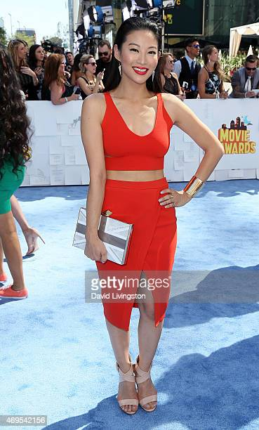 Actress Arden Cho attends the 2015 MTV Movie Awards at the Nokia Theatre LA Live on April 12 2015 in Los Angeles California