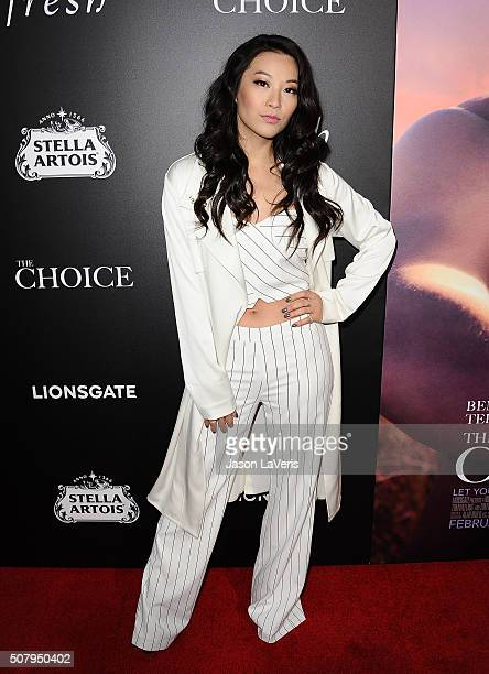 Actress Arden Cho attends the premiere of 'The Choice' at ArcLight Cinemas on February 1 2016 in Hollywood California