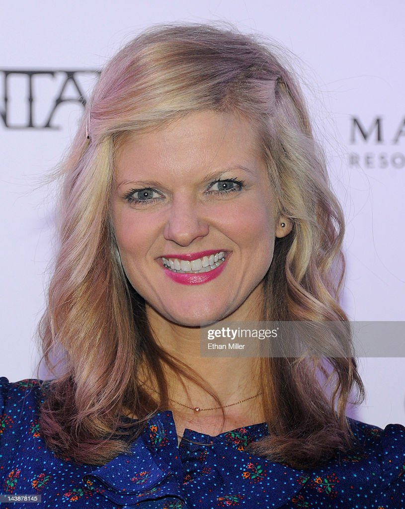 Actress <a gi-track='captionPersonalityLinkClicked' href=/galleries/search?phrase=Arden+Myrin&family=editorial&specificpeople=2194682 ng-click='$event.stopPropagation()'>Arden Myrin</a> appears at the House of Blues inside the Mandalay Bay Resort & Casino following a mud ceremony for recording artist Carlos Santana May 4, 2012 in Las Vegas, Nevada. The ceremony involved combining dirt from the town of Clarksdale in the Mississippi Delta with dirt from Bethel, New York from the site of the Woodstock Festival and mud from Santana's hometown of Autlan de Navarro, Jalisco in Mexico to symbolize his two-year residency at the music venue.