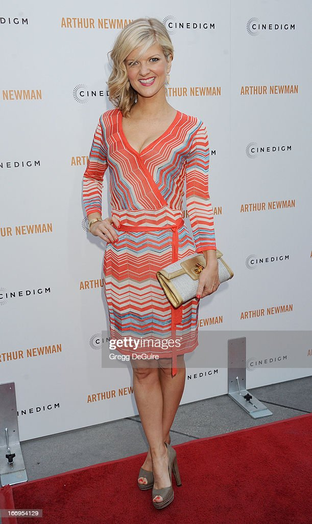 Actress Arden Myrin arrives at the Los Angeles premiere of 'Arthur Newman' at ArcLight Hollywood on April 18, 2013 in Hollywood, California.