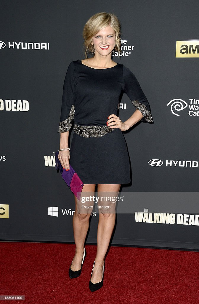 Actress <a gi-track='captionPersonalityLinkClicked' href=/galleries/search?phrase=Arden+Myrin&family=editorial&specificpeople=2194682 ng-click='$event.stopPropagation()'>Arden Myrin</a> arrives at the premiere of AMC's 'The Walking Dead' 4th season at Universal CityWalk on October 3, 2013 in Universal City, California.