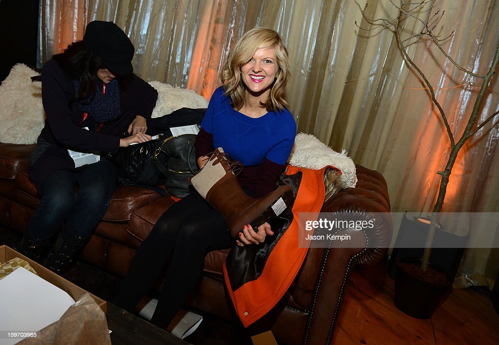 Actress <a gi-track='captionPersonalityLinkClicked' href=/galleries/search?phrase=Arden+Myrin&family=editorial&specificpeople=2194682 ng-click='$event.stopPropagation()'>Arden Myrin</a> attends Day 1 of UGG at Village At The Lift 2013 on January 18, 2013 in Park City, Utah.