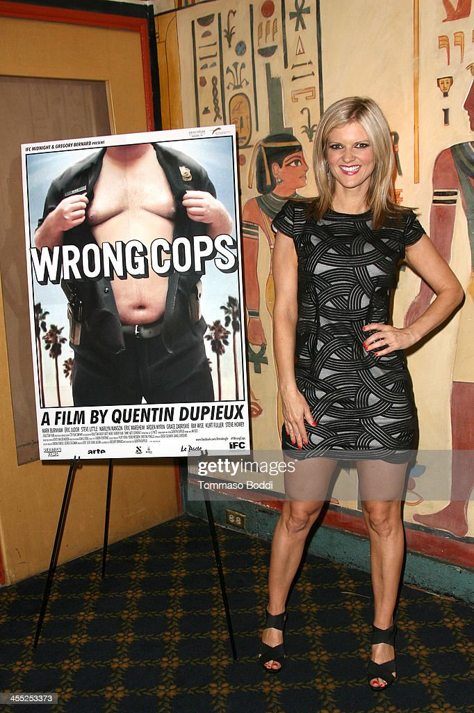 Actress <a gi-track='captionPersonalityLinkClicked' href=/galleries/search?phrase=Arden+Myrin&family=editorial&specificpeople=2194682 ng-click='$event.stopPropagation()'>Arden Myrin</a> attends the GenArt Screening Series presents 'Wrong Cops' held at the Vista Theatre on December 11, 2013 in Los Angeles, California.