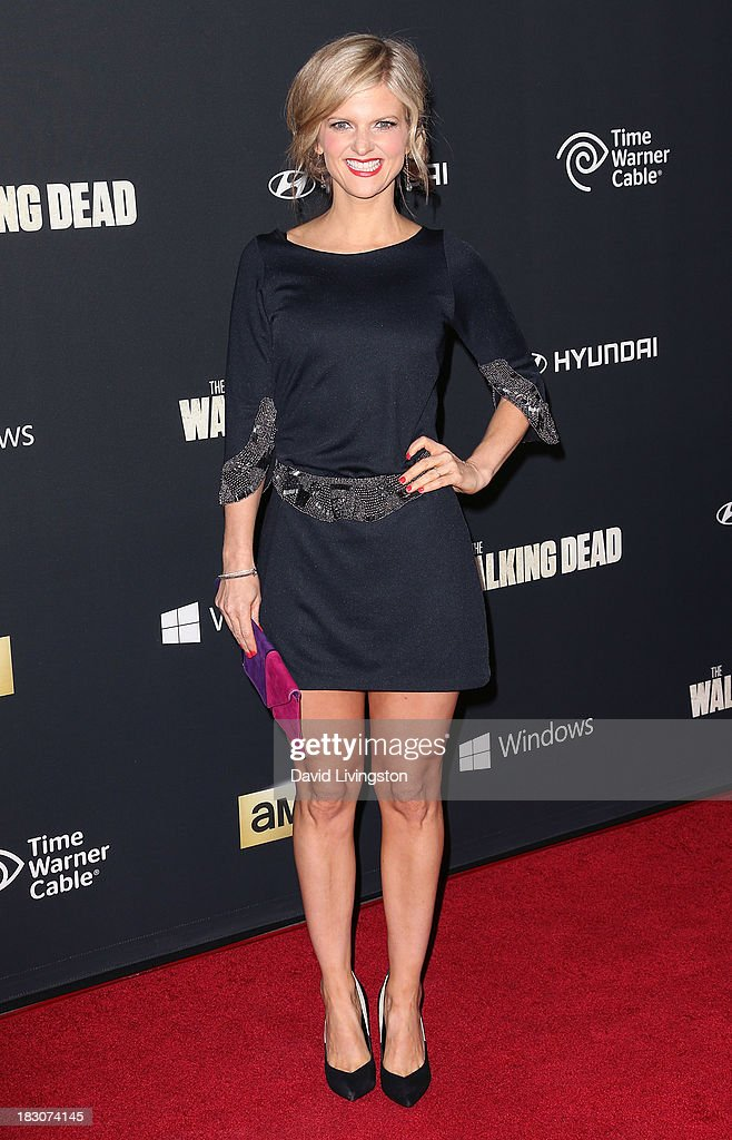 Actress Arden Myrin attends the premiere of AMC's 'The Walking Dead' 4th Season at Universal CityWalk on October 3, 2013 in Universal City, California.