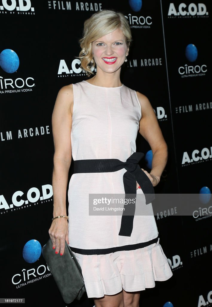 Actress Arden Myrin attends the premiere of the Film Arcade's 'A.C.O.D.' at the Landmark Theater on September 26, 2013 in Los Angeles, California.