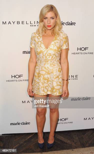 Actress Ari Graynor arrives at Marie Claire's Fresh Faces Party at Soho House on April 8 2014 in West Hollywood California