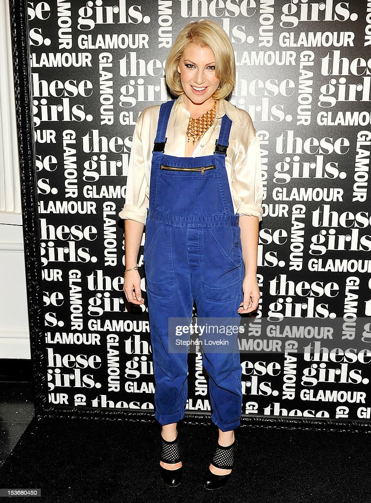 Actress <a gi-track='captionPersonalityLinkClicked' href=/galleries/search?phrase=Ari+Graynor&family=editorial&specificpeople=653300 ng-click='$event.stopPropagation()'>Ari Graynor</a> attends Glamour Presents 'These Girls' at Joe's Pub on October 8, 2012 in New York City.