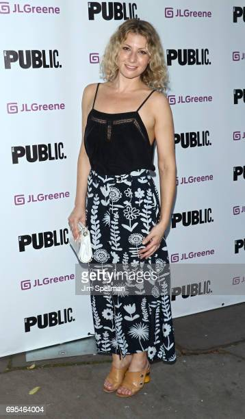Actress Ari Graynor attends the 'Julius Caesar' opening night at Delacorte Theater on June 12 2017 in New York City