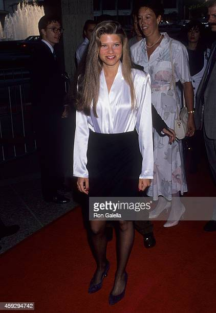 Actress Ari Meyers attends the 'Dutch' Century City Premiere on July 17 1991 at the Cineplex Odeon Century Plaza Cinemas in Century City California