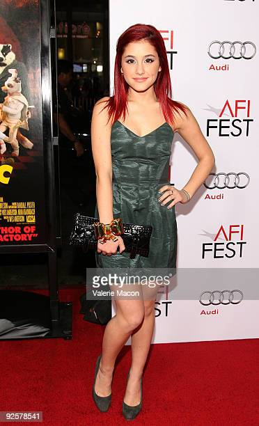 Actress Ariana Grande arrives at the 20th Century Fox's Premiere 'Fantastic Mr Fox' on October 30 2009 in Los Angeles California