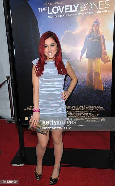 Actress Ariana Grande arrives at the premiere of Paramount Pictures' 'The Lovely Bones' at Grauman's Chinese Theatre on December 7 2009 in Hollywood...