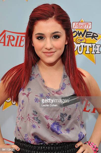 Actress Ariana Grande arrives at Variety's 3rd annual 'Power of Youth' event held at Paramount Studios on December 5 2009 in Los Angeles California