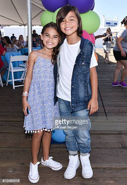 Actress Ariana Greenblatt and Malachi Barton attend the 17th Annual Mattel Party On The Pier on September 25 2016 in Santa Monica California