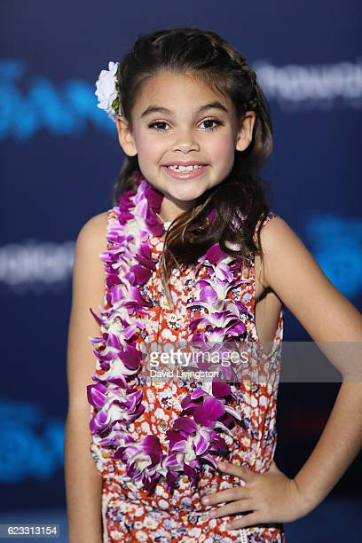 Actress Ariana Greenblatt arrives at the AFI FEST 2016 presented by Audi premiere of Disney's 'Moana' held at the El Capitan Theatre on November 14...