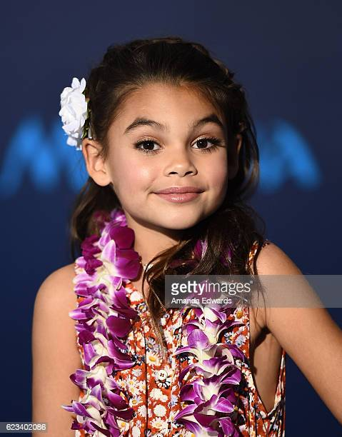 Actress Ariana Greenblatt arrives at the AFI FEST 2016 Presented By Audi premiere of Disney's 'Moana' at the El Capitan Theatre on November 14 2016...