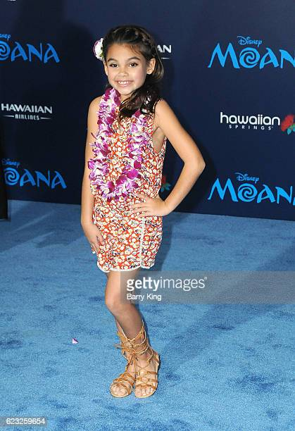 Actress Ariana Greenblatt attends AFI FEST 2016 Presented By Audi Premiere of Disney's 'Moana' at the El Capitan Theatre on November 14 2016 in...