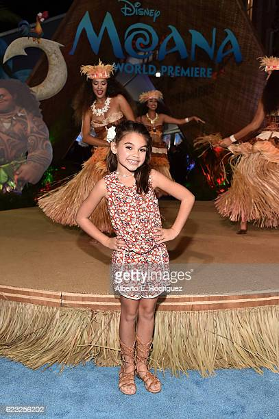 Actress Ariana Greenblatt attends The World Premiere of Disney's 'MOANA' at the El Capitan Theatre on Monday November 14 2016 in Hollywood CA