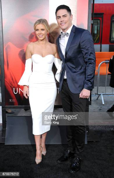 Actress Ariana Madix and actor Tom Sandoval attend premiere of Warner Bros Pictures' 'Unforgettable' at TCL Chinese Theatre on April 18 2017 in...