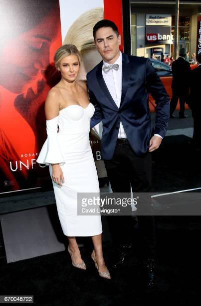 Actress Ariana Madix and Tom Sandoval attend the premiere of Warner Bros Pictures' 'Unforgettable' at TCL Chinese Theatre on April 18 2017 in...