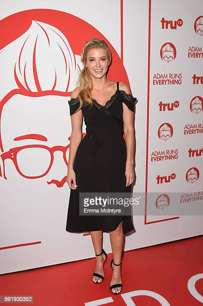 Actress Ariana Madix attends the screening and reception for truTV's 'Adam Ruins Everything' at The Library at The Redbury on August 18 2016 in...