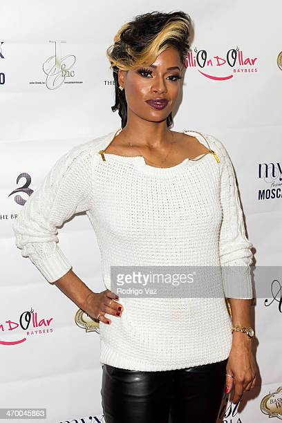 Actress Ariane Davis attends the Basketball Wives LA Season Premiere Party at Allure Studios on February 17 2014 in Los Angeles California