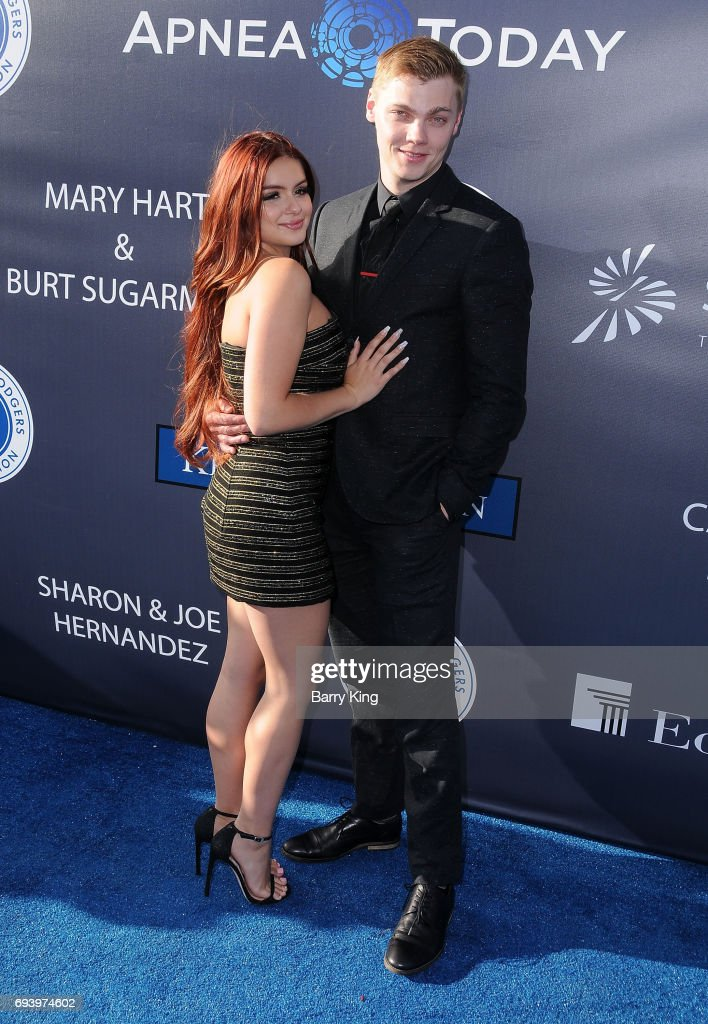 Actress Ariel Winter and actor Levi Meaden attend Los Angeles Dodgers Foundation's 3rd Annual Blue Diamond Gala at Dodger Stadium on June 8, 2017 in Los Angeles, California.