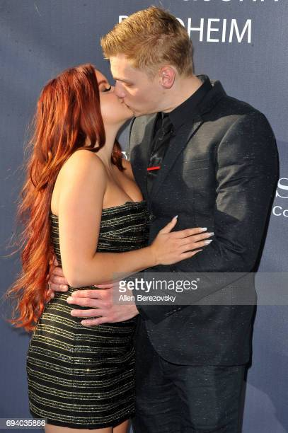 Actress Ariel Winter and actor Levi Meaden attend Los Angeles Dodgers Foundation's 3rd Annual Blue Diamond Gala at Dodger Stadium on June 8 2017 in...