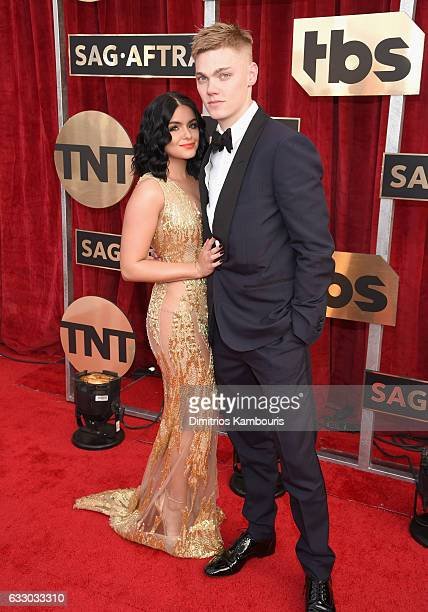 Actress Ariel Winter and actor Levi Meaden attend The 23rd Annual Screen Actors Guild Awards at The Shrine Auditorium on January 29 2017 in Los...