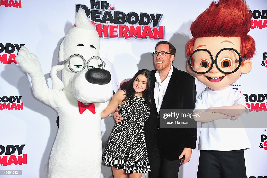 Actress <a gi-track='captionPersonalityLinkClicked' href=/galleries/search?phrase=Ariel+Winter&family=editorial&specificpeople=715954 ng-click='$event.stopPropagation()'>Ariel Winter</a> and director <a gi-track='captionPersonalityLinkClicked' href=/galleries/search?phrase=Rob+Minkoff&family=editorial&specificpeople=3095184 ng-click='$event.stopPropagation()'>Rob Minkoff</a>, arrive at the Premiere of Twentieth Century Fox and DreamWorks Animation's 'Mr. Peabody & Sherman' at Regency Village Theatre on March 5, 2014 in Westwood, California.