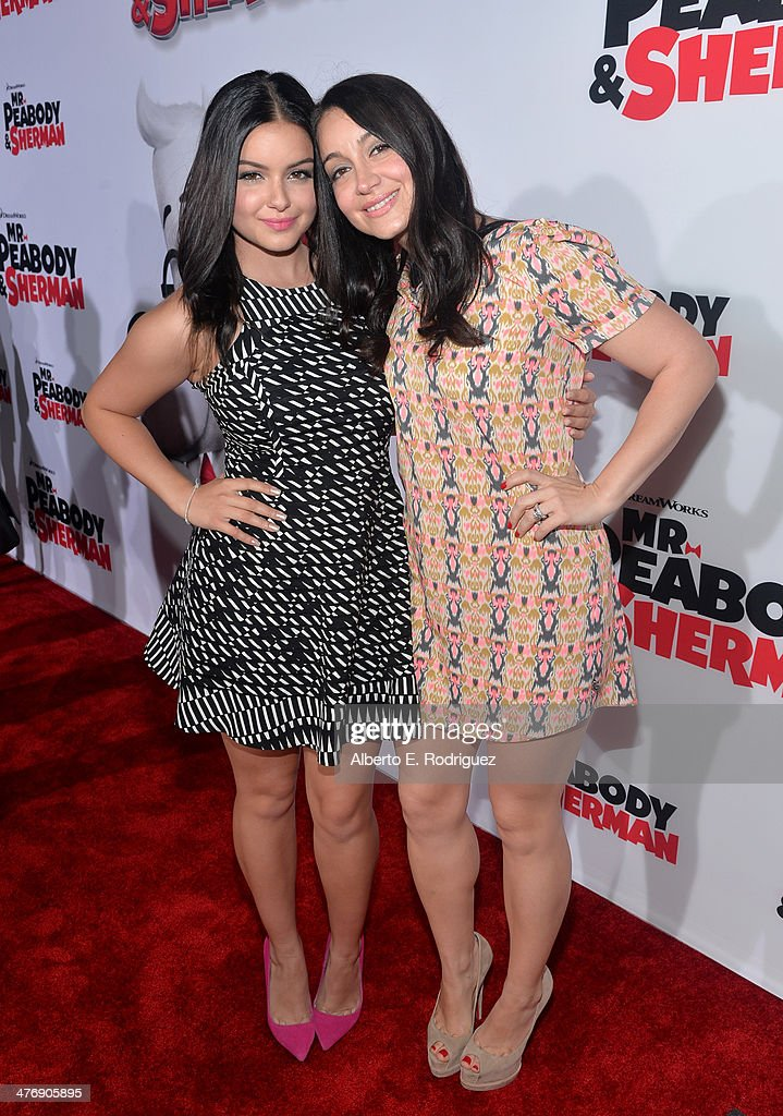 Actress Ariel Winter and guest attend the premiere of Twentieth Century Fox and DreamWorks Animation's 'Mr. Peabody & Sherman' at Regency Village Theatre on March 5, 2014 in Westwood, California.