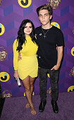 Actress Ariel Winter and Laurent Claude Gaudette attend Just Jared's Way to Wonderland presented by Ever After High at Greystone Manor Supperclub on...