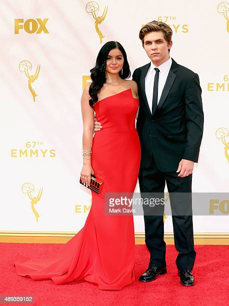 Actress Ariel Winter and Laurent Claude Gaudette attend the 67th Annual Primetime Emmy Awards at Microsoft Theater on September 20 2015 in Los...