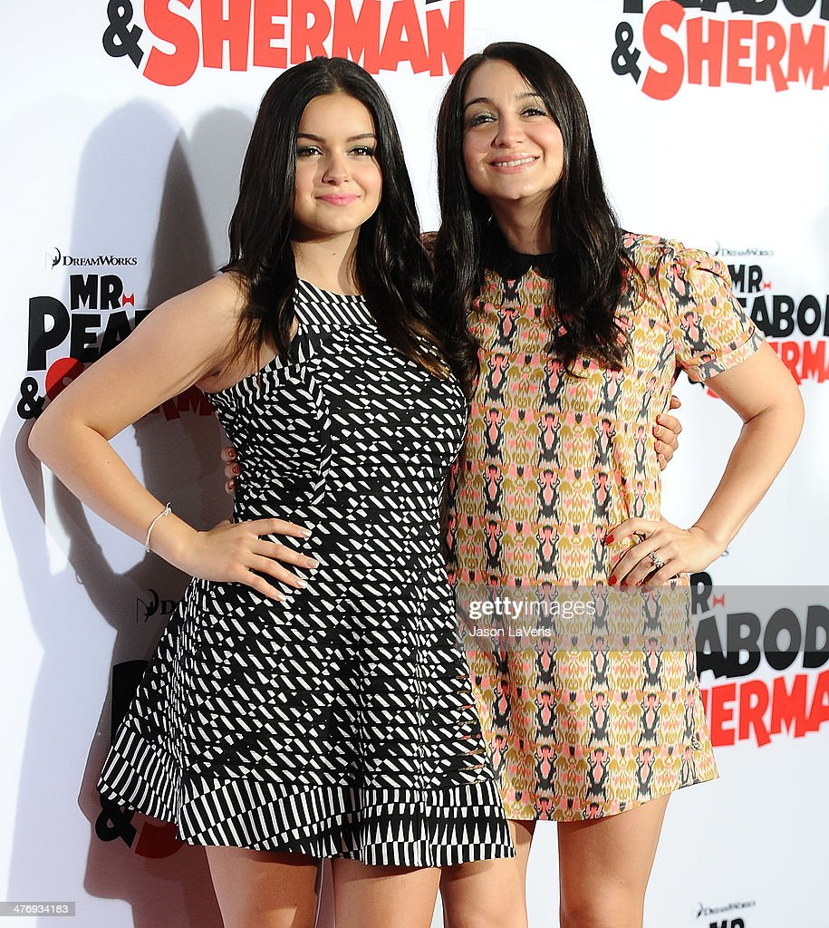 Actress Ariel Winter and sister Shanelle Workman attend the premiere of 'Mr Peabody Sherman' at Regency Village Theatre on March 5 2014 in Westwood...