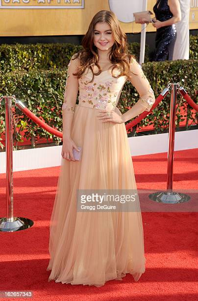Actress Ariel Winter arrives at the 19th Annual Screen Actors Guild Awards at The Shrine Auditorium on January 27 2013 in Los Angeles California