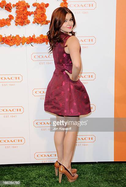 Actress Ariel Winter arrives at the 3rd Annual Coach Evening To Benefit Children's Defense Fund at Bad Robot on April 10 2013 in Santa Monica...