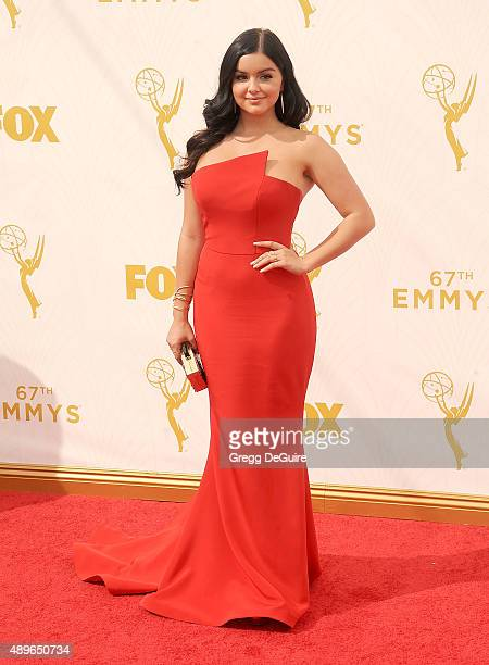 Actress Ariel Winter arrives at the 67th Annual Primetime Emmy Awards at Microsoft Theater on September 20 2015 in Los Angeles California
