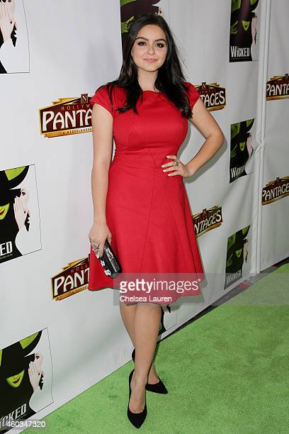 Actress Ariel Winter arrives at the opening night green carpet for 'WICKED' at the Pantages Theatre on December 11 2014 in Hollywood California