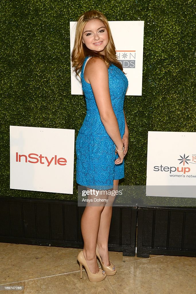 Actress <a gi-track='captionPersonalityLinkClicked' href=/galleries/search?phrase=Ariel+Winter&family=editorial&specificpeople=715954 ng-click='$event.stopPropagation()'>Ariel Winter</a> attends Step Up Women's Network 10th annual Inspiration Awards at The Beverly Hilton Hotel on May 31, 2013 in Beverly Hills, California.