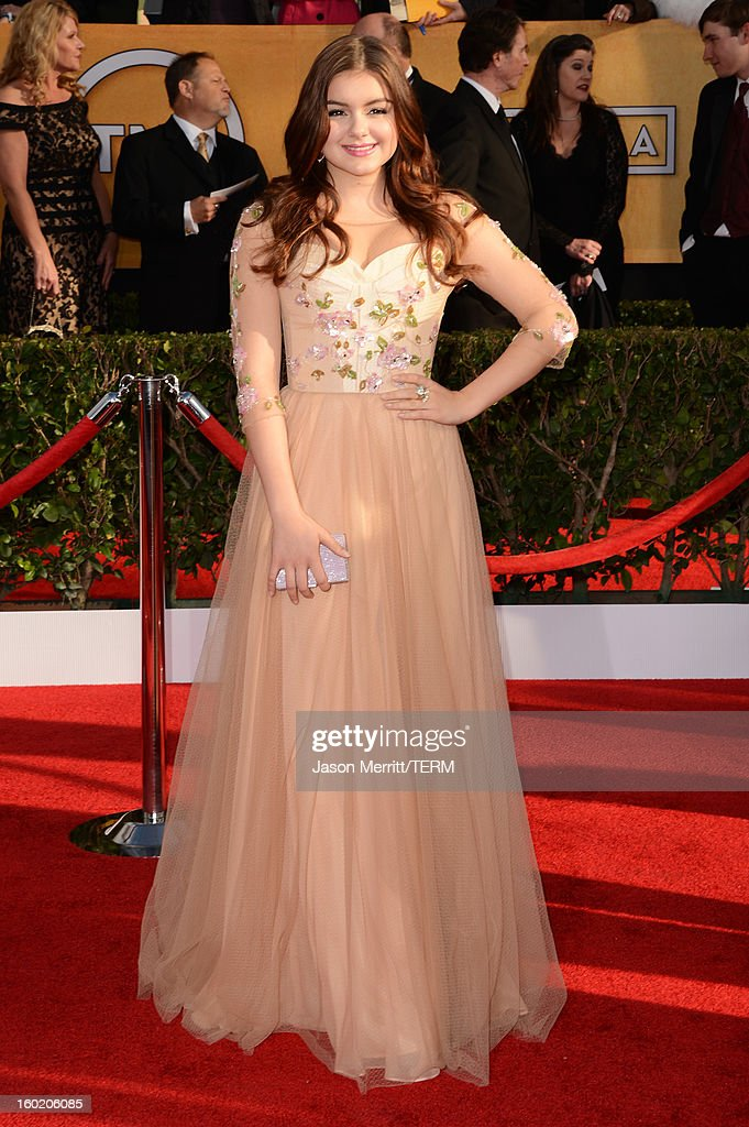 Actress Ariel Winter attends the 19th Annual Screen Actors Guild Awards at The Shrine Auditorium on January 27, 2013 in Los Angeles, California. (Photo by Jason Merritt/WireImage) 23116_014_0288.JPG