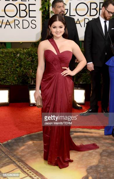 Actress Ariel Winter attends the 71st Annual Golden Globe Awards held at The Beverly Hilton Hotel on January 12 2014 in Beverly Hills California