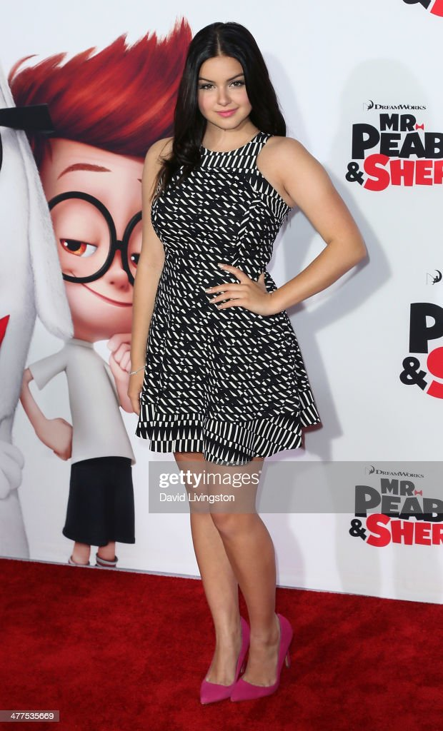 Actress <a gi-track='captionPersonalityLinkClicked' href=/galleries/search?phrase=Ariel+Winter&family=editorial&specificpeople=715954 ng-click='$event.stopPropagation()'>Ariel Winter</a> attends the premiere of Twentieth Century Fox and DreamWorks Animation's 'Mr. Peabody & Sherman' at the Regency Village Theatre on March 5, 2014 in Westwood, California.
