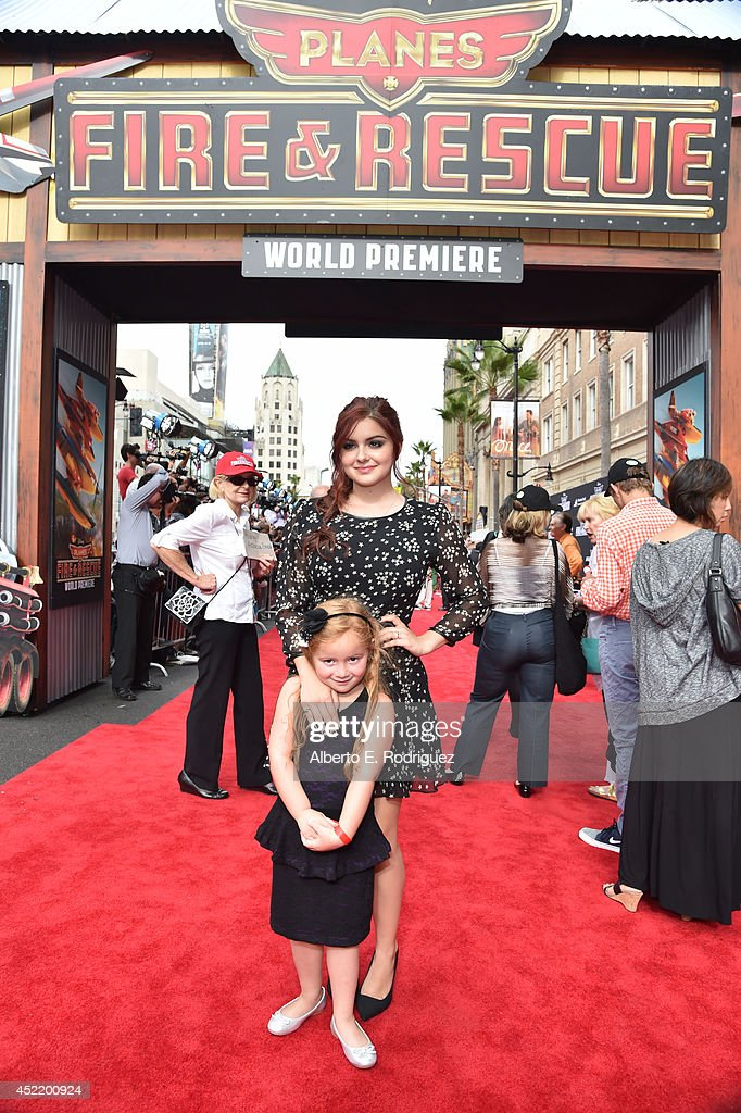 Actress <a gi-track='captionPersonalityLinkClicked' href=/galleries/search?phrase=Ariel+Winter&family=editorial&specificpeople=715954 ng-click='$event.stopPropagation()'>Ariel Winter</a> attends World Premiere Of Disney's 'Planes: Fire & Rescue' at the El Capitan Theatre on July 15, 2014 in Hollywood, California.