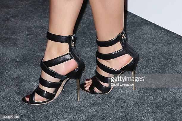 Actress Ariel Winter shoe detail arrives at Audi Celebrates The 68th Emmys at Catch on September 15 2016 in West Hollywood California