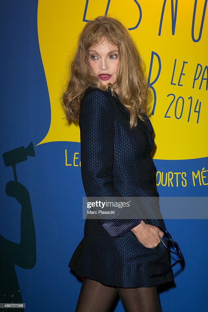 Actress <a gi-track='captionPersonalityLinkClicked' href=/galleries/search?phrase=Arielle+Dombasle&family=editorial&specificpeople=616903 ng-click='$event.stopPropagation()'>Arielle Dombasle</a> attends the 'Panorama des Nuits en or' gala dinner UNESCO on June 16, 2014 in Paris, France.